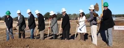 Builders and tenants participated in a ceremonial ground breaking Dec. 4 for the Spanish Oaks medical office center, located northwest of East Whitestone and Ronald Reagan boulevards.
