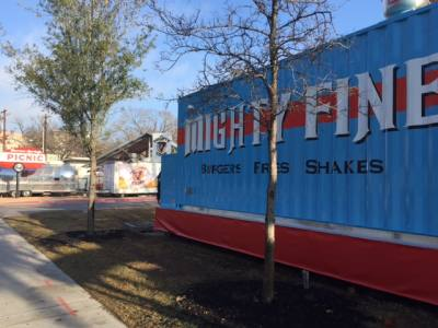 Mighty Fine Burgers Fries and Shakes is now open at The Picnic food trailer park on Barton Springs Road.