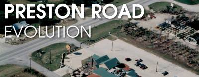 This aerial shot of Preston Road was taken in 1994. It shows the roadway before it was six lanes.