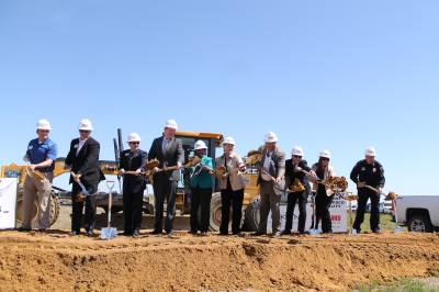 County and city officials break ground on the Denton County Government Center in Frisco.