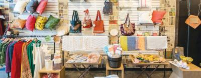 The Hill Country Galleria shop offers eco-friendly fashion and home decor.
