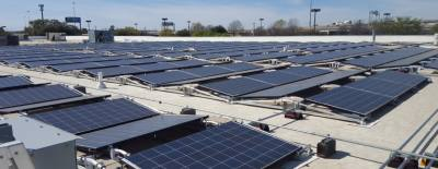 Central Market completed installing more than 900 solar panels on the roof of its South Lamar Boulevard location in February.