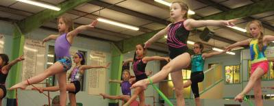 Flips Gymnastics in Oak Ridge North offers a variety of classes, ranging from basic fundamentals to competitive gymnastics.