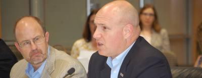 John Hofmann, LCRA Executive Vice President of Water, addresses agency board members on April 19.