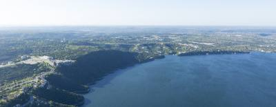 In March, Lake Travis reached 100 percent of its water supply capacity. This view of The Oasis on Lake Travis.