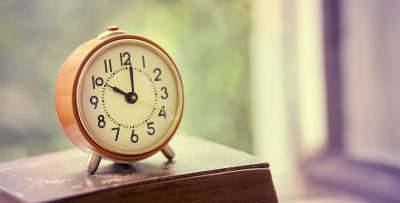 Daylight saving time begins March 12.