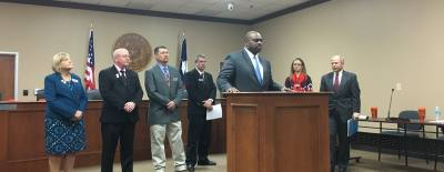 Jones addressed Hutto about the allegations at a press conference March 16.