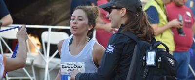 Dallas-native Allison Mendez wins the women's division of today's Humana Rock 'N' Roll Dallas Half Marathon.