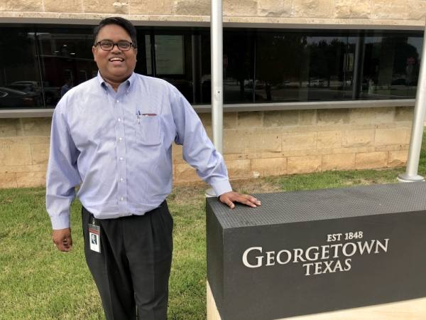 Daniel Bethapudi is the new general manager for the city of Georgetown's electric utility. (Sally Grace Holtgrieve/Community Impact Newspaper)