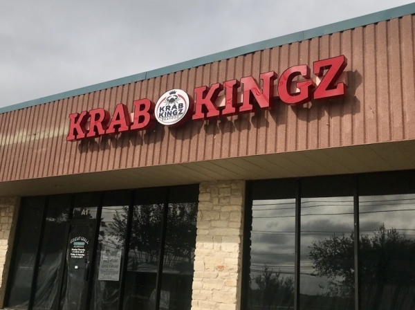 Krab Kingz Seafood will open a storefront off FM 685 in Pflugerville, at the location of Pflugerville's former Great Wall Express restaurant. (Kelsey Thompson/Community Impact Newspaper)