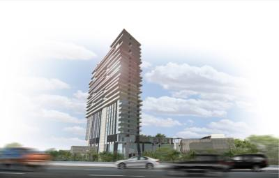 A luxury hotel at The Gate is planned to have 225 rooms. (Rendering courtesy city of Frisco)