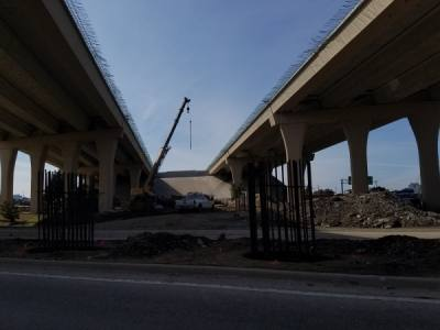 A fourth lane is being added to the entire Frisco stretch of the Sam Rayburn Tollway. (Elizabeth Uclés/Community Impact Newspaper)