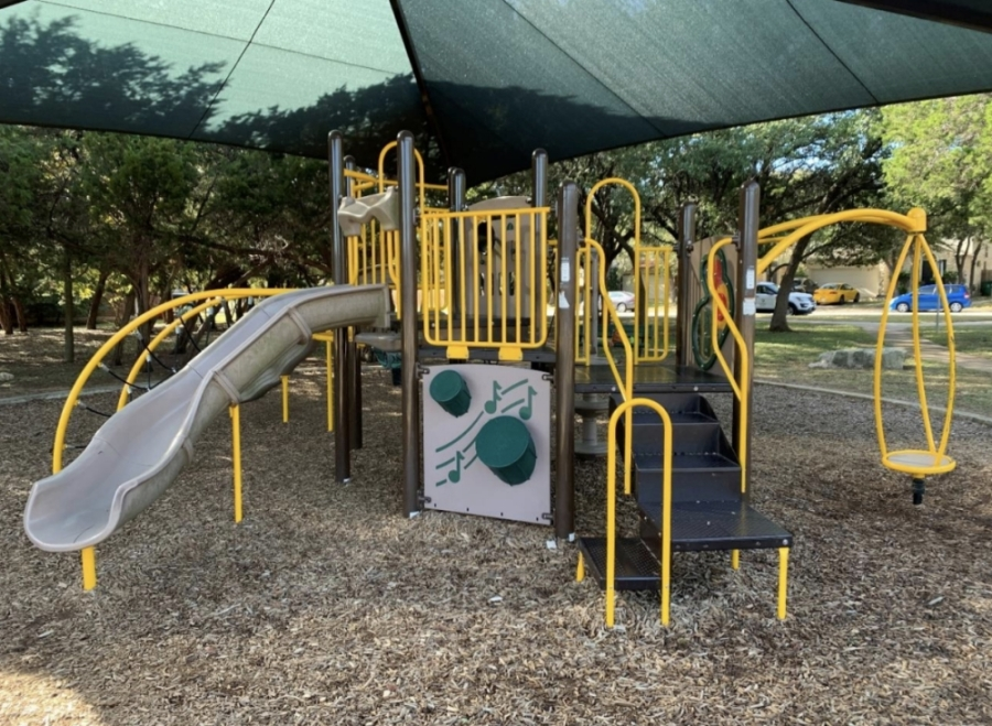 The new equipment coming to five Cedar Park playgrounds will be manufactured by BCI Burke, which also built the equipment at Quest Village Park (pictured) in Cedar Park. (Courtesy city of Cedar Park)