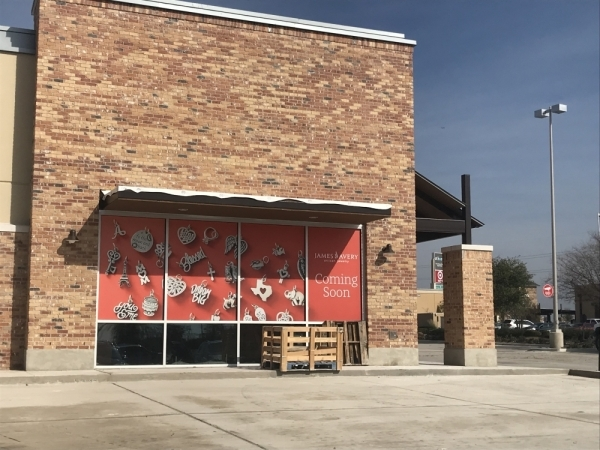 James Avery storefront in progress, coming soon, Stone Hill Town Center