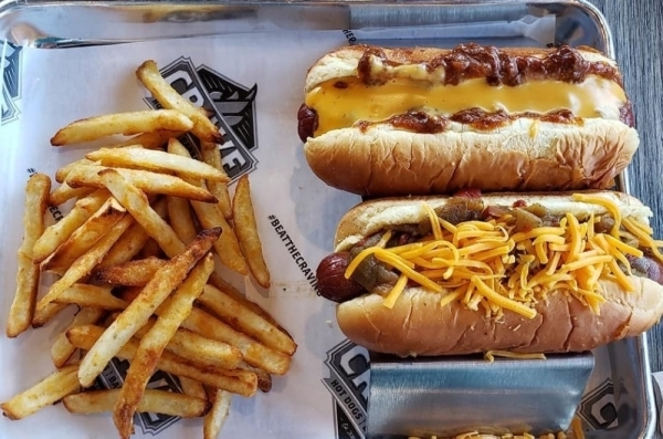 Crave Hot Dogs & Barbecue will open in early January in Westlake Marketplace. (Courtesy Crave Hot Dogs & Barbecue)
