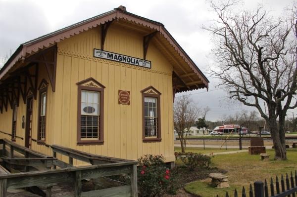 Visit the Magnolia Historic Depot Complex on Melton Street. (Anna Lotz/Community Impact Newspaper)
