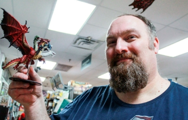 Dave Donohoo is a teacher at New Caney ISD and owns Ettin Games and Hobbies. (Andy Li/Community Impact Newspaper)
