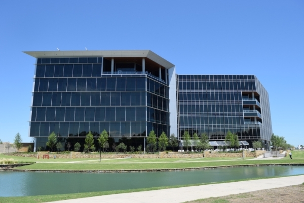 Independent Bank built its headquarters in McKinney earlier this year. The combined Texas Capital bank will headquarter out of this building. (Emily Davis/Community Impact Newspaper)