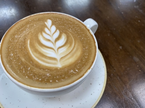 Vault Coffee is located inside Oak St Food & Brew at 206 N. Oak St., Roanoke. (Renee Yan/Community Impact Newspaper)