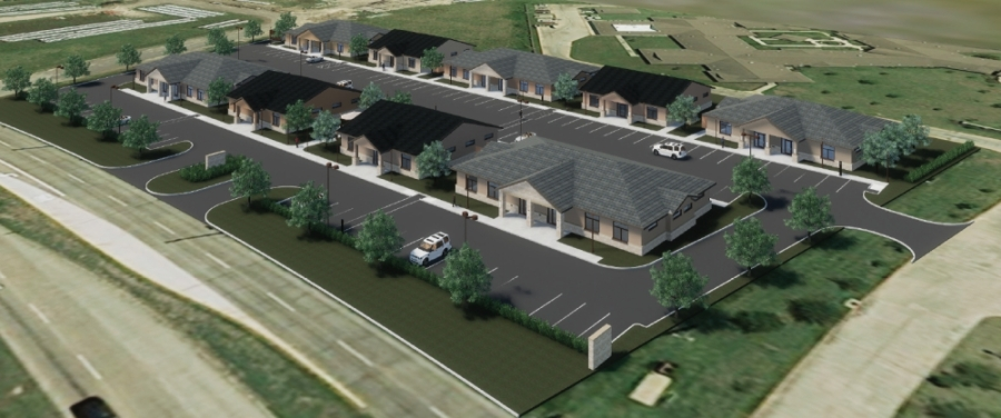 Construction is underway on a new office and medical building complex. (Rendering Courtesy Transwestern)