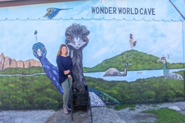 Kristen Williams added this mural to the park when she took over running Wonder World from her father, Buddy Mostyn, in 2017. (Rachal Russell/Community Impact Newspaper)