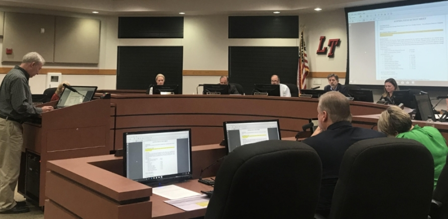 Robert Winovitch, director of facilities and construction presented the board of trustees with an update on the district's construction projects (Amy Rae Dadamo/Community Impact Newspaper)