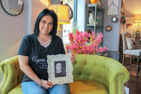 Monica Jordan named her home decor and gift boutique, Agnes Belle, after her grandmother, Agnes Charrier. (Hannah Zedaker/Community Impact Newspaper)