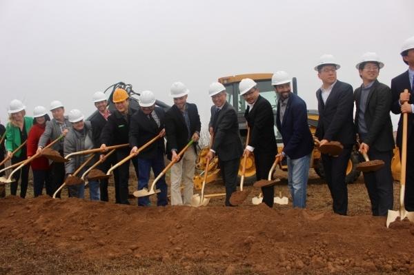 ENF Technology broke ground in Kyle Jan. 17. (Evelin Garcia/Community Impact Newspaper)