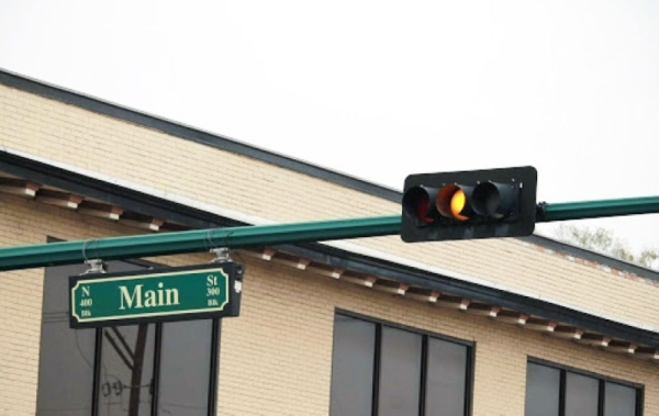 The city began preconstruction in January to add flashing yellow arrows to 28 locations across the city. (Andy Li/Community Impact Newspaper)