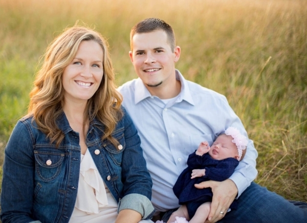 Pastor Russell Daniel, pictured with his wife Brooke and daughter Haley Mae, will lead services at Hutto Community Church, now located at 636 W. Front. St. (Courtesy Kelly McGovern)
