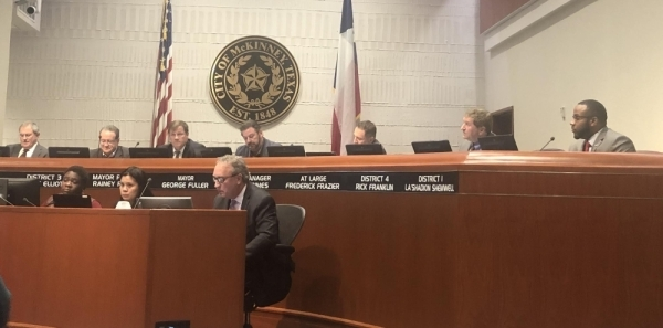 McKinney City Council approved an ordinance placing a recall election for La'Shadion Shemwell on the May 2 general election ballot. (Emily Davis/Community Impact Newspaper)
