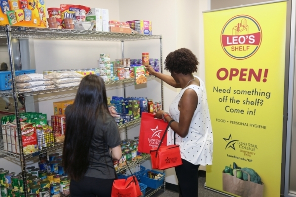 leo's shelf lone star college university park food pantry
