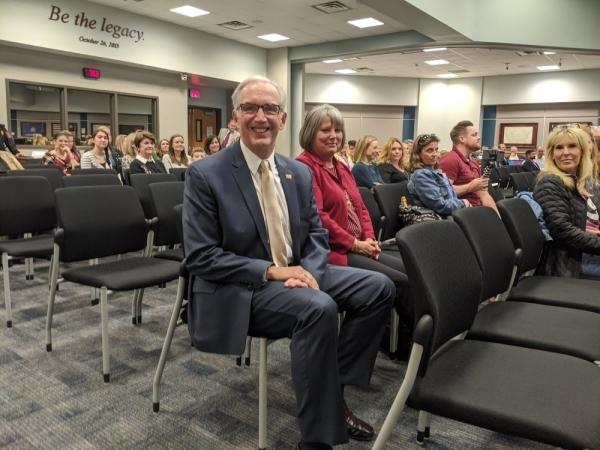 Peter McElwain is a Katy ISD architect and planner who retired in 2017. (Jen Para/Community Impact Newspaper)