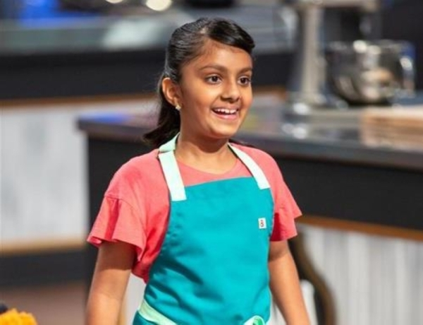 """Sahana Gade, a sixth-grade Fort Bend ISD student, appeared on season 8 of """"Kids Baking Championship."""" (Courtesy Sudhaa Gade/Food Network Channel)"""