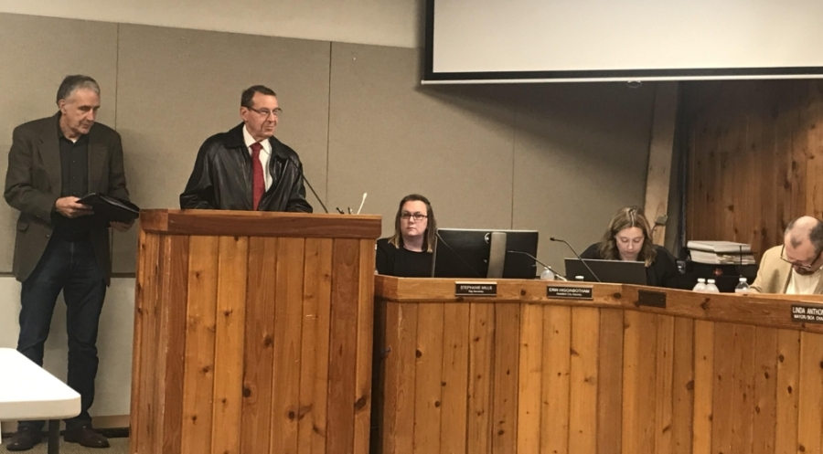 Bond advisory council Chair Virgil Flathouse led the discussion on the council's final report. (Amy Rae Dadamo/Community Impact Newspaper)