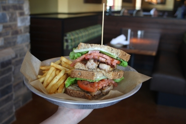 Lazy Dog Restaurant & Bar opened last summer at Hwy. 290 and Hwy. 6. (Danica Smithwick/Community Impact Newspaper)