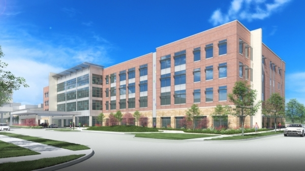 The Pediatric Ambulatory Center of Excellence at Dell Children's Hospital is expected to be complete in June 2021. (Rendering Courtesy Dell Children's Medical Center)
