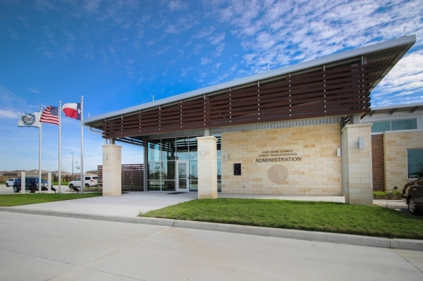 A ribbon-cutting ceremony for the new Fort Bend County Public Transportation facility was held on Jan. 28. (Courtesy Lockwood, Andrews & Newnam Inc.)