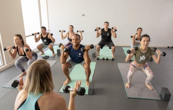The yoga studio expects to open its new Las Colinas location in March. (courtesy Yogasix)