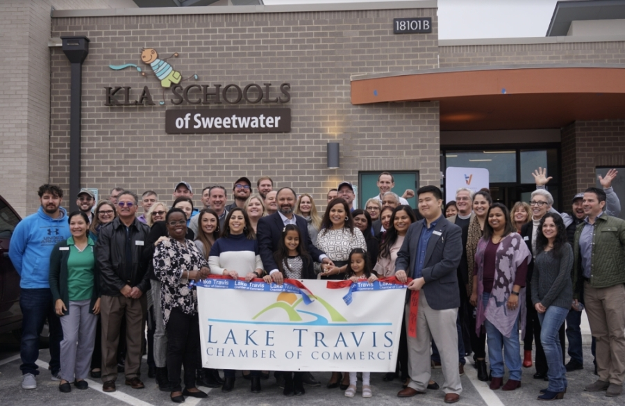 KLA Schools of Sweetwater celebrated its Jan. 30 opening with a ribbon-cutting ceremony. (Courtesy Sanam Madampath)
