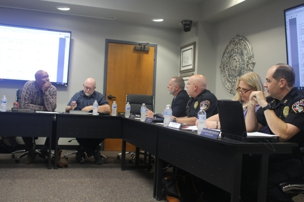 The San Marcos Criminal Justice Reform Committee met on Jan. 28 at City Hall. (Evelin Garcia/Community Impact Newspaper)