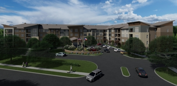 The Orchards at Market Plaza expects to start moving residents in by mid-2020 at 3640 Mapleshade Lane, Plano. (Rendering Courtesy of The Orchards at Market Plaza)