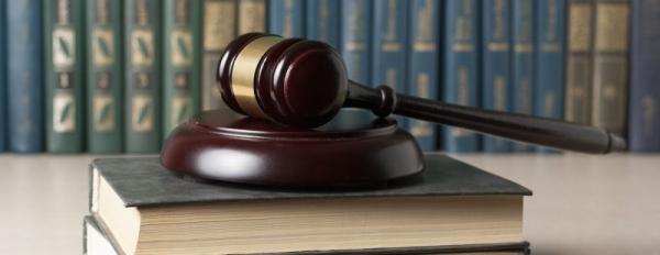 gavel on lawbook courtroom stock image fotolia