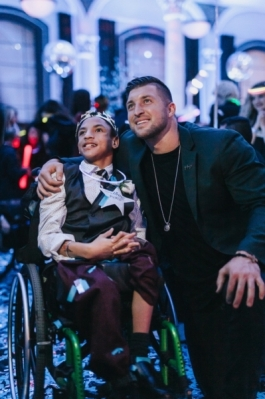 Tim Tebow attended Night to Shine at Compass Church in 2019. (Courtesy Compass Church)
