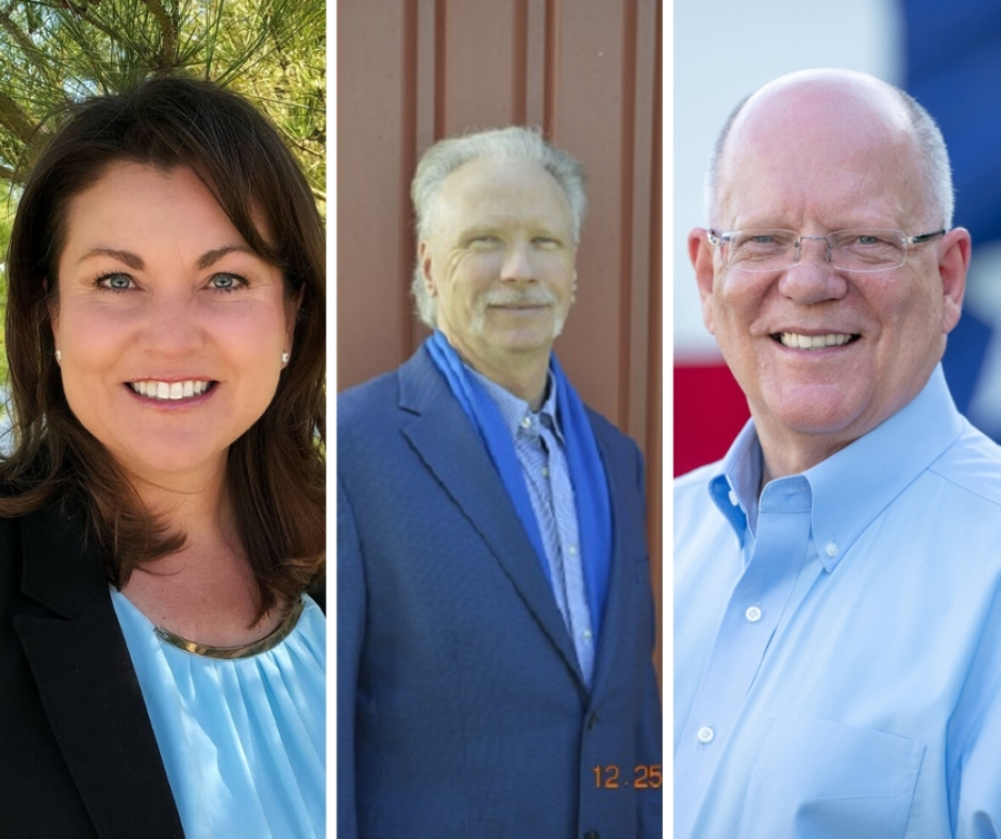 From left: Wendy Duncan, Glenn Harry Gustafson and incumbent Andy Meyers are candidates in the March 3 Republican primary for Fort Bend County Precinct 3 Commissioner.