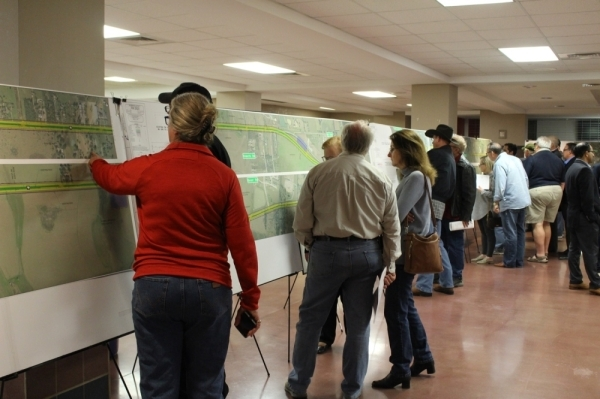 The Texas Department of Transportation hosted an open house at Tomball High School in late January regarding a proposed widening project of FM 2920, which remains unfunded. (Anna Lotz/Community Impact Newspaper)