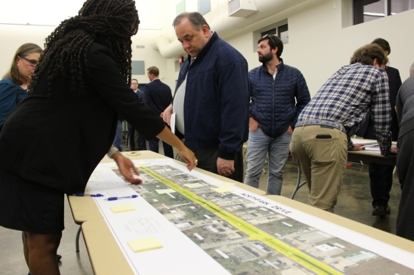 Kingwood residents had the chance to give feedback and see designs for the long-awaited Northpark Drive Improvement Project at an open house on Feb. 6. (Kelly Schafler/Community Impact Newspaper)