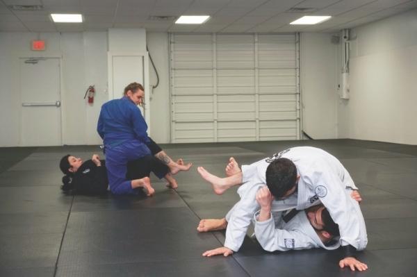 MA BJJ Academy's beginners class meets on Mondays, Wednesdays and Thursdays. (Photos by Gavin Pugh/Community Impact Newspaper)