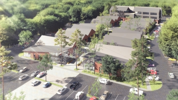 The Marcel Group will break ground on Marcel Boulevard on March 17. (Rendering courtesy Kaplan Public Relations)