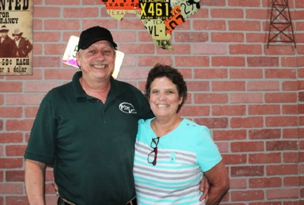 Husband and wife Paul and Debbie Gainor opened Pizza Zone in Spring in 2000. (Eva Vigh/Community Impact Newspaper)